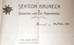 Referenzschreiben aus dem Jahr 1913