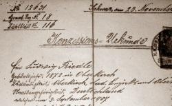 Konzessionsurkunde aus dem Jahr 1907